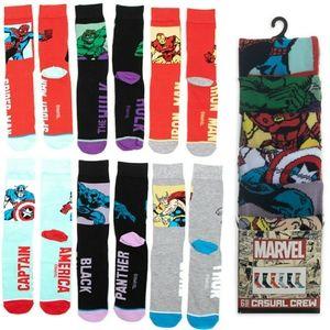 MARVEL Casual Socks 6 Pairs Sz 8 - 12
